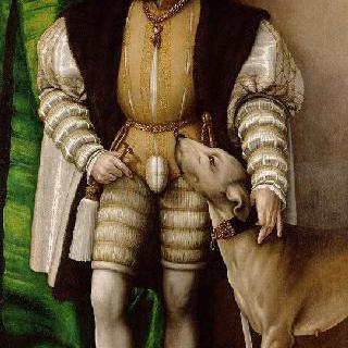 개를 데리고 있는 황제 카를 5세의 초상