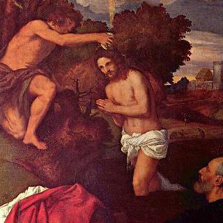 주문자 조반니 람이 함께 그려진, 그리스도의 세례