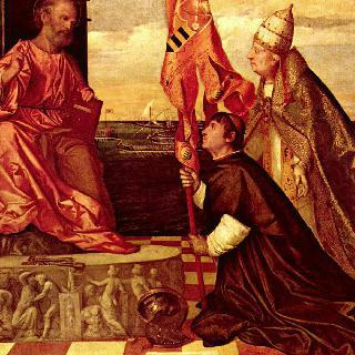성 베드로에게 야코포 페사로를 소개하는 교황 알렉산데르 6세