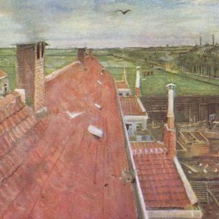 지붕, 솅크로 (路)에 있는 반 고흐의 작업실 위에서 바라본 풍경