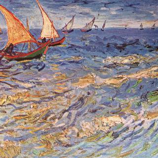 생트 마리 바다 위의 보트