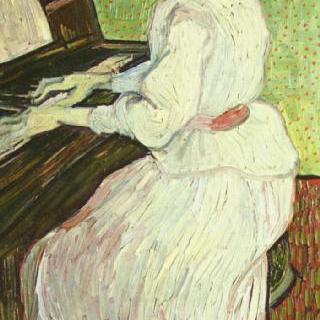 피아노에 앉은 가셰의 딸
