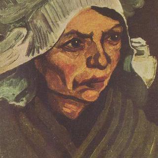 흰 모자를 쓴 시골여인의 초상