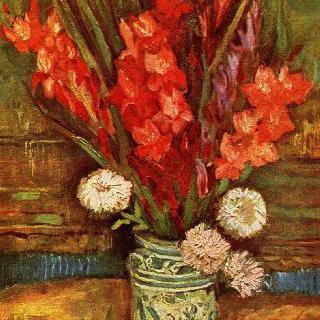 붉은 글라디올러스가 있는 정물