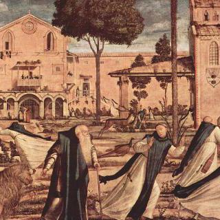 수도원에서 사자와 함께 있는 성 히에로니무스