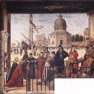 브르타뉴 왕의 궁전에 도착한 잉글랜드 외교사절
