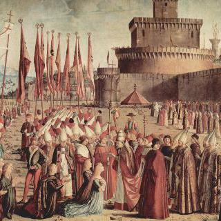 교황과 만난 순례자들