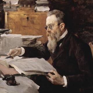 작곡가 니콜라이 안드레예비치 림스키-코르사코프의 초상