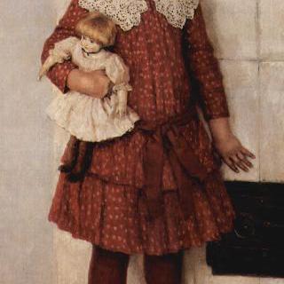 화가의 딸 올가 바실례브나 수리코바의 초상 (인형을 든 소녀)
