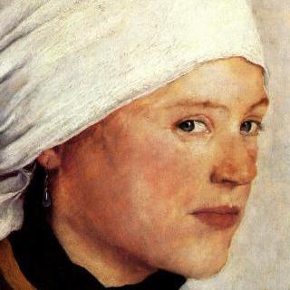 하얀 두건을 쓴 시골소녀