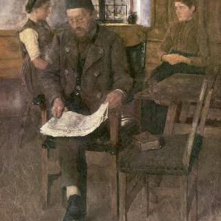 신문 읽는 남자