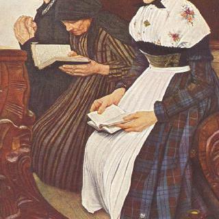 교회에 있는 세 여인