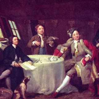 자신의 선실에 있는 조지 그레이엄 경의 초상