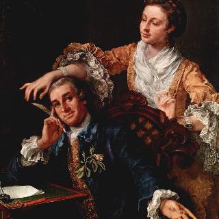 배우 데이비드 개릭과 그의 부인의 초상