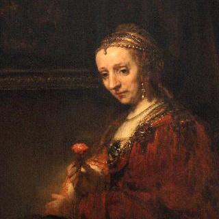 붉은 카네이션을 든 여인의 초상