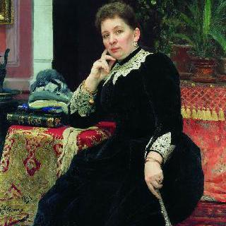 자선가 올가 세르게예브나 알렉산드로바-게인스의 초상