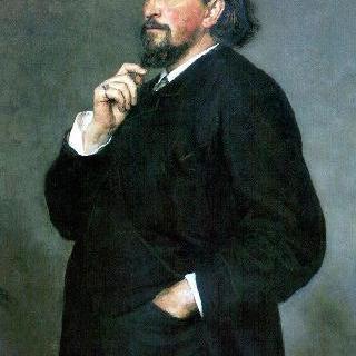 악보 발행인 및 후원자 미트로판 페트로비치 벨랴예프의 초상