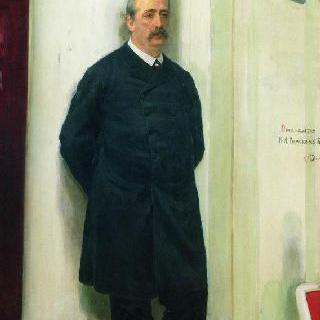 작곡가 및 화학자 알렉산드르 포르피리예비치 보로딘의 초상
