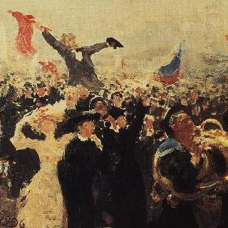 1905년 10월 17일의 시위 (초벌그림)