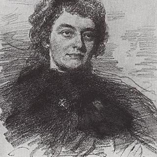 시인, 작가 및 문학평론가 지나이다 니콜라예브나 기피우스의 초상
