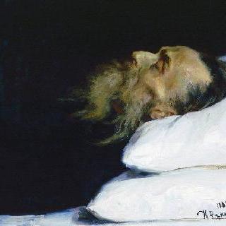 관 속에 누워 있는 역사학자 니콜라이 이바노비치 코스토마로프