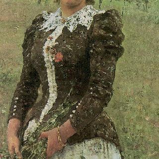 가을 꽃다발. 화가의 딸, 베라 일리니치나 레피나의 초상