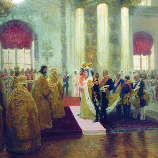 니콜라이 2세와 알렉산드라 표도로브나 여(女)대공의 결혼식