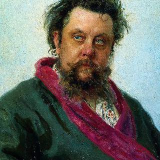 작곡가 모데스트 페트로비치 무소륵스키의 초상