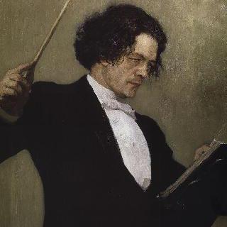 작곡가 안톤 루빈시테인의 초상