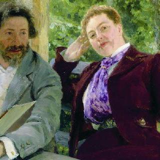 나탈리야 보리소브나 노르드만-세베로바와 함께 있는 자화상