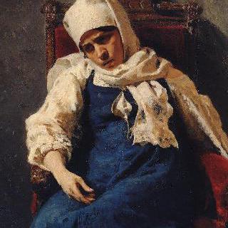 엘리사벳 역을 맡은 여배우 펠라게야 안티페브나 스트레페토바의 초상