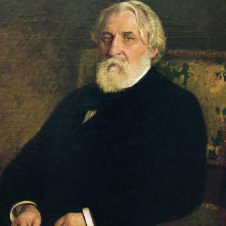 작가 이반 투르게네프의 초상