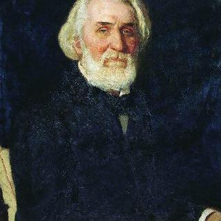작가 이반 세르게예비치 투르게네프의 초상