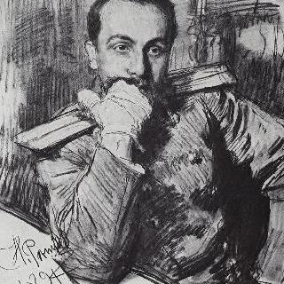 작가 알렉산드르 블라디미로비치 지르케비치의 초상