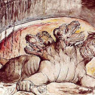 단테의 신곡 삽화 - 케르베로스의 첫번째 버전
