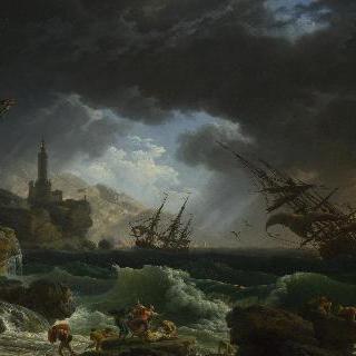 폭풍우 치는 바다의 난파