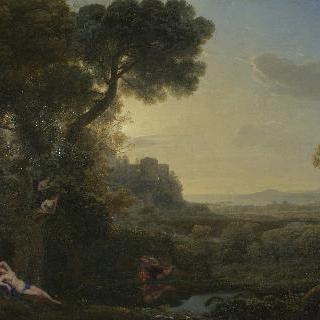 나르키소스와 에코가 있는 풍경