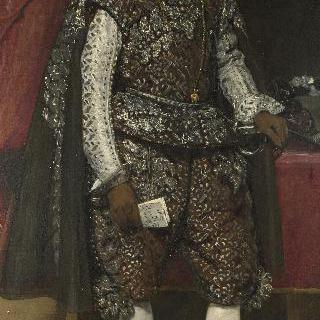 갈색과 은색 옷을 입은 스페인의 펠리페 4세