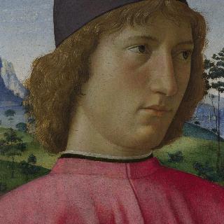 붉은 옷을 입은 젊은 남자의 초상