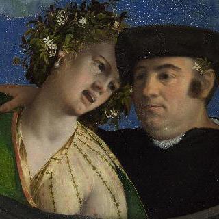여인을 껴안고 있는 남자