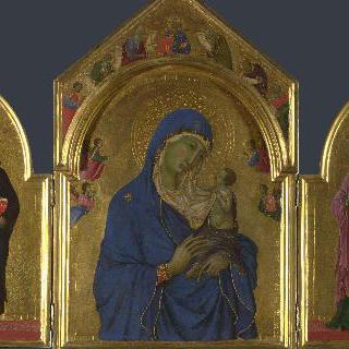 성모와 아기 예수 및 성 도미니쿠스와 성 아우레아