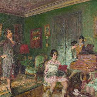 앙드레 보름저의 부인과 그녀의 아이들