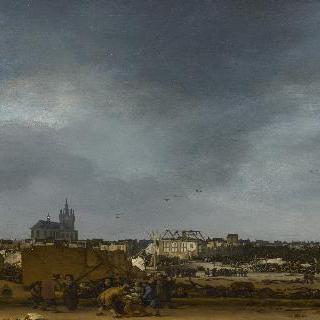 1654년 폭발 뒤의 델프트 모습