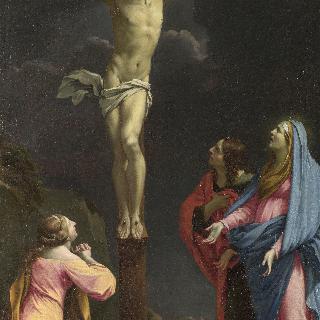 십자가에 못박힌 그리스도와 성모 및 성인들