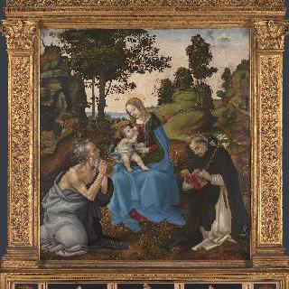 성모와 아기 예수 및 성 히에로니무스와 성 도미니쿠스