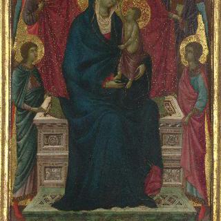 성모와 아기 예수 및 네 천사