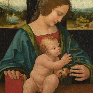 성모와 아기 예수 이미지