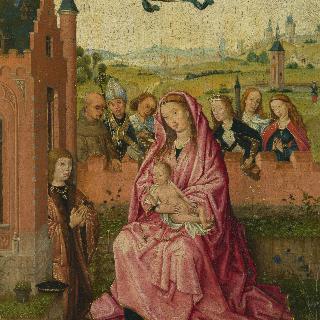 성모와 아기 예수 및 성인들과 기부자