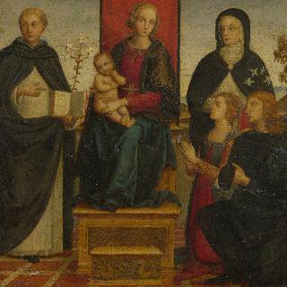 성모와 아기 예수 및 성인들