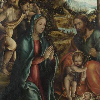 어린 세례 요한과 목동들이 있는 그리스도의 강탄